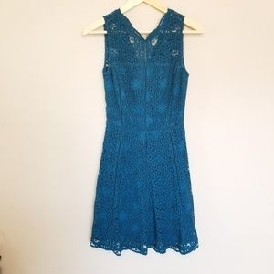 Adelyn Rae Teal Lace Dress XS